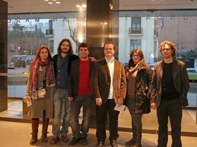 Raquel Rodríguez, José Minguillón, Mario Carro, Alberto Carretero, Nuria Núñez y Jesús Navarro. Concierto Compositores Sub-35 - Aula de (Re)estrenos (86)