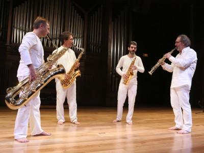 Sigma Project, Andrés Gomis, Ángel Soria, Miguel Romero y Josetxo Silguero. Concierto Música, espacio, luz - Aula de (Re)Estrenos (88)