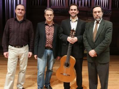 Jesús Torres, David del Puerto, Adam Levin y Carlos Cruz de Castro. Concierto La guitarra de hoy - Aula de (Re)estrenos (87)