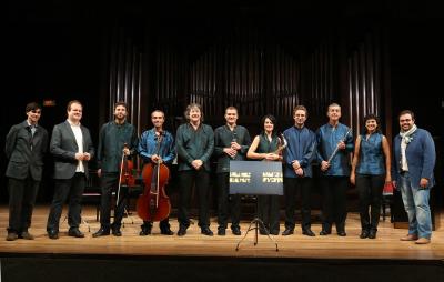 Luis Román, Alberto Carretero, Grupo Cosmos 21 y Manuel Tevar. Concierto Compositores Sub-35 - Aula de (Re)estrenos (92)