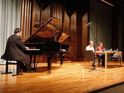 Federico Lechner, Fernando Palacios y Eva Sandoval. Concierto Después de Stalin: música en la URSS, 1960-1990