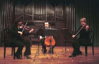 Trío de Cuerda Wandeter, Julia Malkova, Yulia Iglinova y Anton Gakkel. Concierto Luigi Boccherini: música de cámara