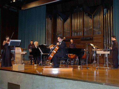 Yulia Iglinova, Anton Gakkel, Viktor Derevianko, Raúl Benavent, Rafael Más y Sergi Perales. Concierto Dimitri Shostakovich en su centenario