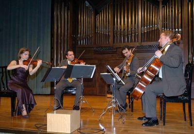 Anne Marie North, Iván Martín, Cuarteto Bretón, Antonio Cárdenas y John Stokes. Concierto Robert Schumann