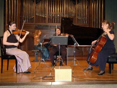 Trío Modus, Jensen Horn-Sin Lam, Irini Gaitani, Mariana Todorova y Suzana Stefanovic. Concierto Robert Schumann