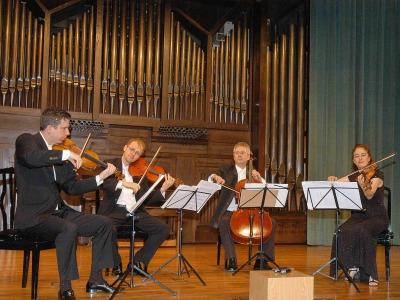 Cuarteto de Cuerda Penderecki, Jeremy Bell, Jerzy Kaplanek, Christine Vlajk y Simon Fryer. Concierto Música de cámara norteamericana