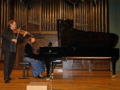 Elisaveta Blumina y Serguei Teslia. Concierto Música de cámara norteamericana