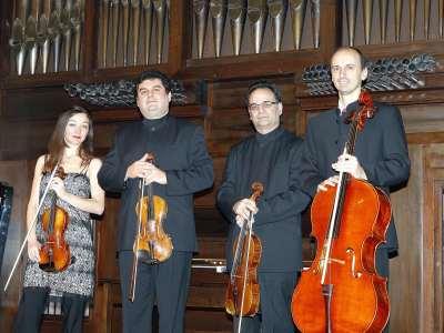 Joaquín Torre, Lina Tur Bonet, Iagoba Fanlo y Manuel Román. Concierto Cuartetos neoclásicos españoles