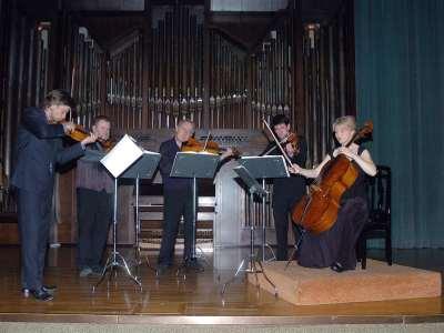 Brodsky Quartet y John Metcalfe. Concierto Los quintetos de cuerda de Mozart