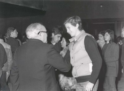 Federico Sopeña y Felipe de Borbón. Asistencia a Recitales para Jóvenes