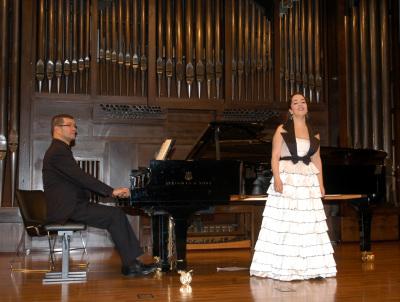 Laura Alonso y Stefan Schmidt. Concierto Nacimiento del Lied