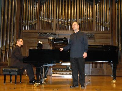 José Antonio Carril y Aurelio Viribay. Concierto Nacimiento del Lied