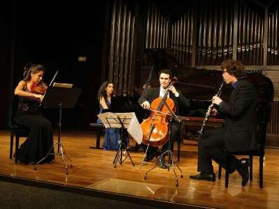 Leticia Moreno, Zeynep Özsuca, Adolfo Gutiérrez Arenas y Sacha Rattle. Concierto Creación y apocalipsis