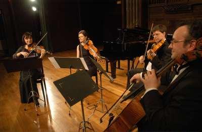 Cuarteto Wanderer, Yulia Iglinova, Yulia Nefyodova, Oleg Krylnikov y Anton Gakkel. Concierto El Grupo de los ocho y la nueva música (1920-1936)