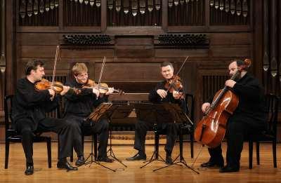 Cuarteto Debussy, Christophe Collette, Dorian Lamotte, Vicent Depreck y Alain Brunier. Concierto Componer bajo el tercer Reich