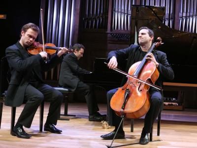 Trío Arriaga, Felipe Rodríguez, Daniel Ligorio y David Apellániz. Concierto Prodigios musicales