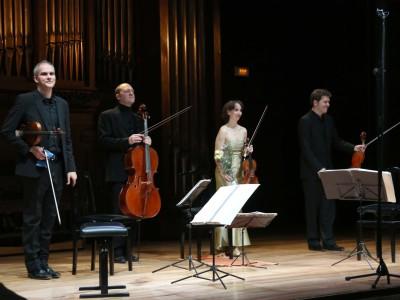Cuarteto Casals, Abel Tomàs, Vera Martínez-Mehner, Arnau Tomàs y Jonathan Brown. Concierto Prodigios musicales