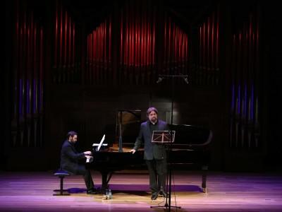 Rubén Fernández Aguirre y José Ferrero. Concierto Verdi en el salón