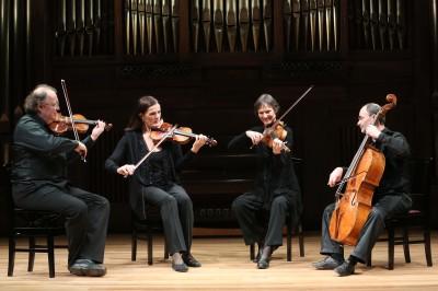 Cuarteto Mosaïques, Erich Höbarth, Andrea Bischof, Anita Mitterer y Christopher Coin. Concierto Gaetano Brunetti, músico de corte