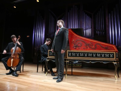 Oriol Aymat, Dani Espasa y Jordi Domènech. Concierto Músicas para Senesino - Castrati