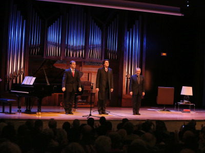 Julius Drake, Günter Haumer y José Luis Gómez. Concierto El mundo de la canción alemana - El universo musical de Thomas Mann