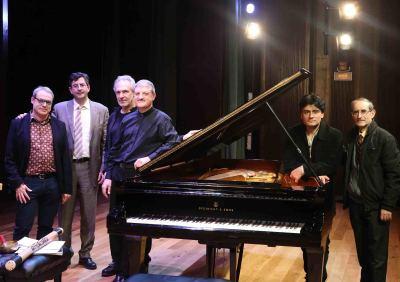 David del Puerto, Miguel Ángel Marín, Jesús Rueda Azcuaga, Albert Nieto, Moisès Bertrán y José Mª García Laborda. Concierto Impacto en España - Jazz impact
