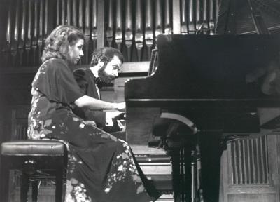 Carmen Deleito y Josep Colom. Concierto Piano a cuatro manos (1985)