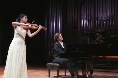 Ana María Valderrama y Luis del Valle. Concierto Recital de violín y piano