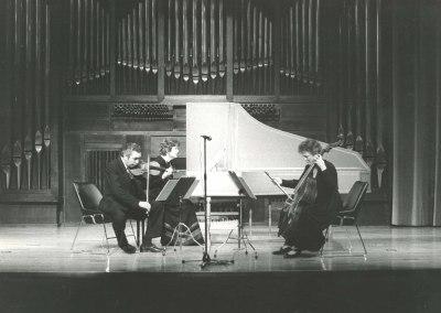 Víctor Martín, Belén Aguirre y Genoveva Gálvez. Concierto Haendel (1985)