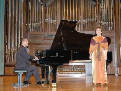 Aurelio Viribay y Rosa María Toribio. Concierto Recital de canto y piano