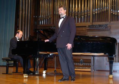 José Ferrero y Juan Fernando Cebrián. Concierto Recital de canto y piano