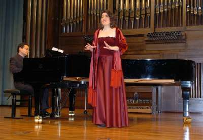 David Barón y Ana Martínez. Concierto Recital de canto y piano