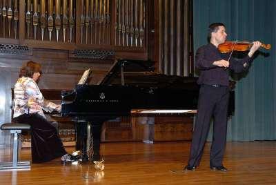 Mireira Planas y Agustí Coma Alabert. Concierto Recital de violín y piano