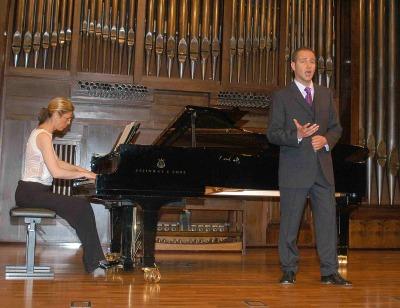 Alain Damas y Blanca Calvo. Concierto Recital de canto y piano