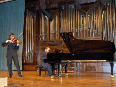 Guillermo Chaloub y Nelson Ojeda Valdés. Concierto Recital de violín y piano
