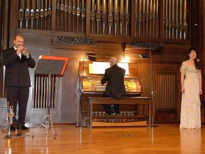 José Miguel Sambartolomé, Paloma Soria y Anselmo Serna. Concierto Recital de Música de Cámara