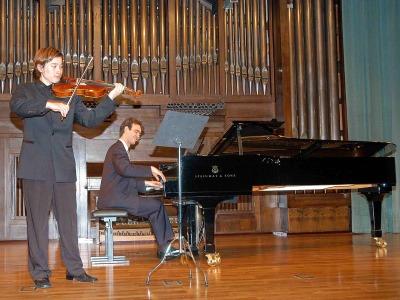 Héctor J. Sánchez y Wen Xiao Zheng. Concierto Recital de viola y piano