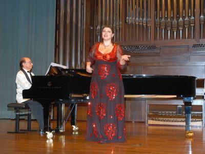 Tatiana Melnychenko y Juan Hurtado. Concierto Recital de canto y piano