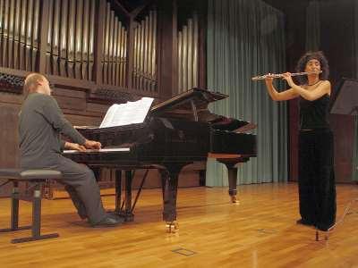 Lara Manzano y Javier Laboreo. Concierto Recital de flauta y piano