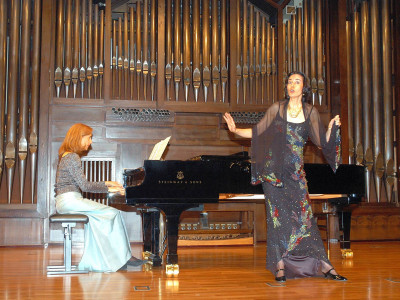 Laurence Verna y Teresa Sasportas. Concierto Recital de canto y piano