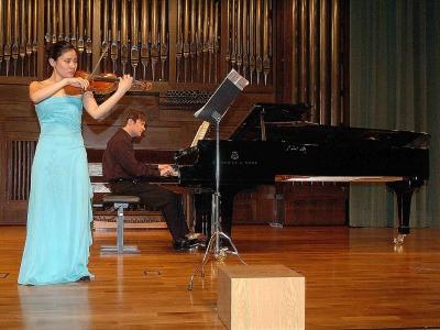 Amy Park y Duncan Gifford. Concierto Recital de violín y piano