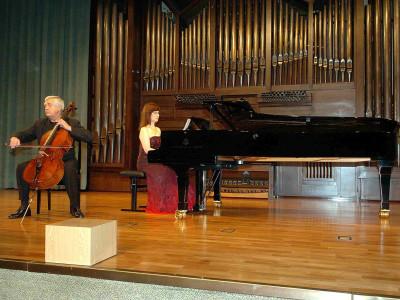 Roman Jablonski y Tatiana Kriukova. Concierto Recital de violonchelo y piano