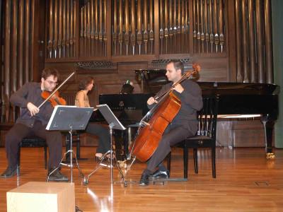 Trío Dhamar, David Santacecilia, Eduardo Soto y Isabel Puente. Concierto Recital de música de cámara