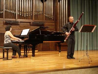 Salvador Aragó y Isabel Fátima Hernández. Concierto Recital de fagot y piano