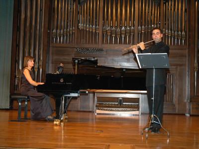 Roberto Casado y Francesca Croccolino. Concierto Recital de flauta y piano