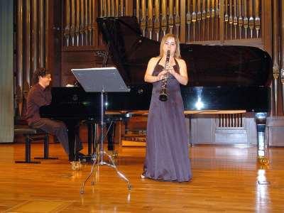 Alex Ramírez Gama y Garazi Orueta Domínguez. Concierto Recital de clarinete y piano