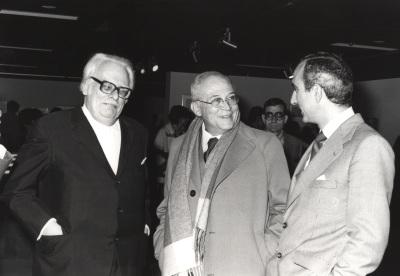 Félix Klee, Fernando Zóbel y José Luis Yuste Grijalba. Exposición Paul Klee Óleos, acuarelas, dibujos y grabados