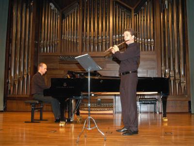Santiago Casanova y Juan Antonio Nicolás. Concierto Recital de flauta y piano