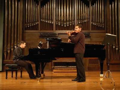 Antonio Ortiz y Alberto Menchen. Concierto Recital de violín y piano