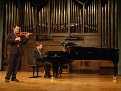 Alfredo García Serrano y Gerardo López Laguna. Concierto Recital de violín y piano